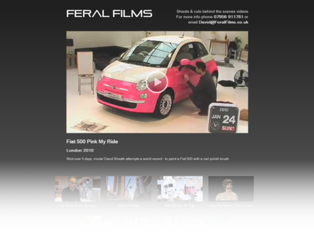Feral Films site screenshot