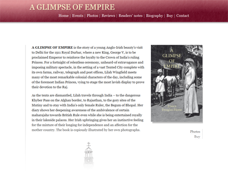 A Glimpse of Empire site screenshot