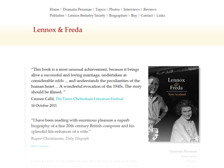 Lennox and Freda site screenshot