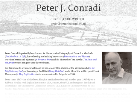 Peter Conradi site screenshot